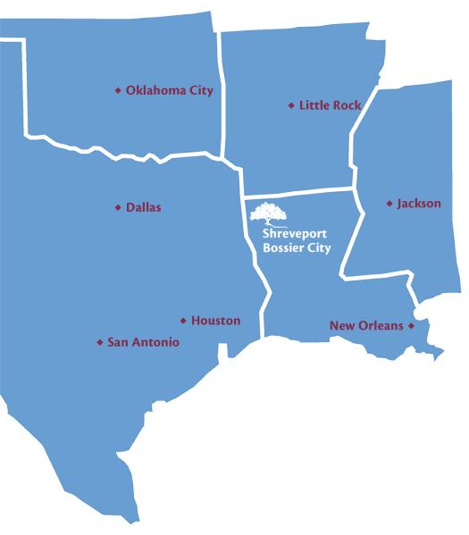 Area Map The Oaks of Louisiana